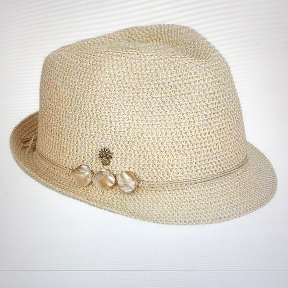 633461e6b Tommy Bahama Gold Packable Trilby Fedora NWT NWT